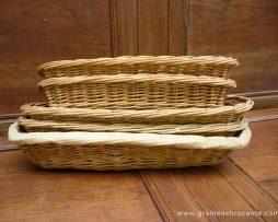 Anciennes panières à pain de boulanger
