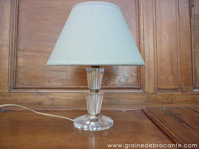 pied de lampe en cristal art d co. Black Bedroom Furniture Sets. Home Design Ideas