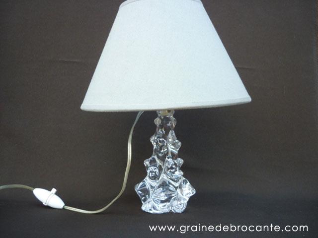 lampe en cristal sign e schneider des ann es 50. Black Bedroom Furniture Sets. Home Design Ideas