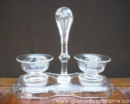 salière poivrière cristal