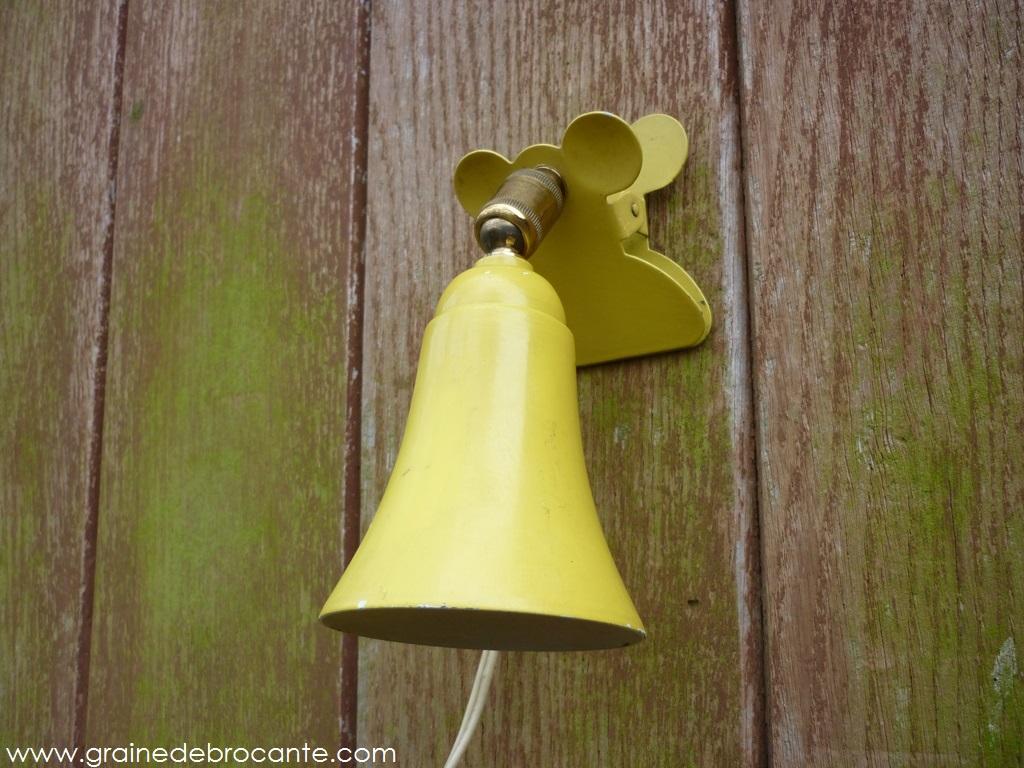 Lampe de chevet pince vintage - Lampe chevet vintage ...