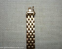 Bracelet plaqué or maille grain de riz