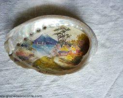 miniature peinte sur coquillage