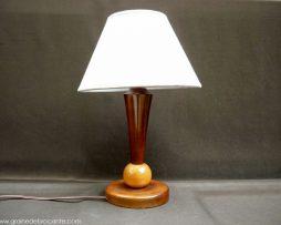 lampe bois années 40 ancienne