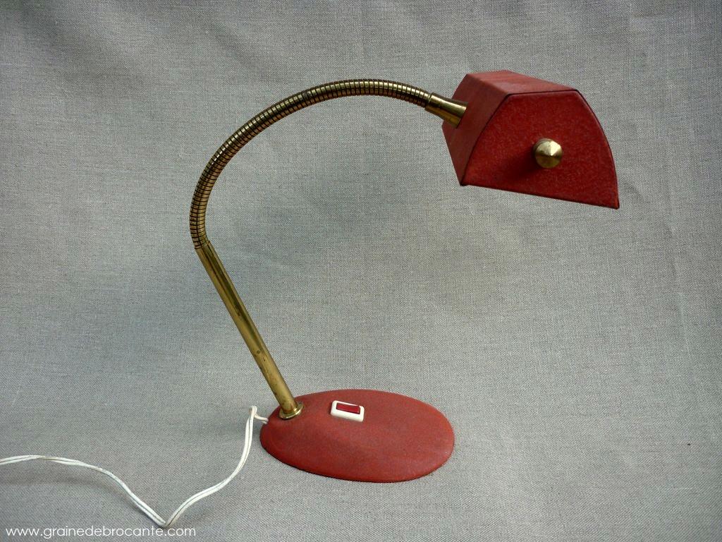 Lampe de bureau ann es 50 r ve de brocante for Lampe de bureau annee 50