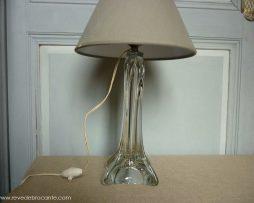 grande lampe en cristal années 50