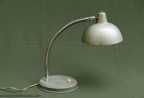 Lampe d atelier grise années 50