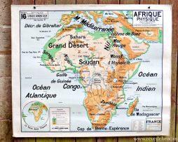 Carte ancienne scolaire Vidal Lablache N°16 L'AFRIQUE PHYSIQUE