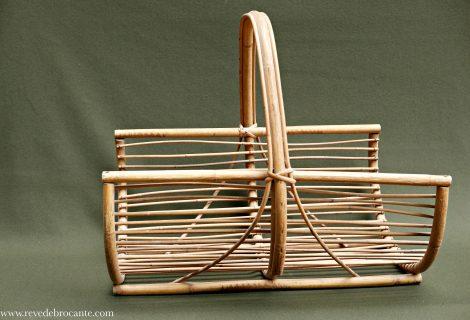 Porte buches en bambou ann es 60 r ve de brocante for Porte buche 60