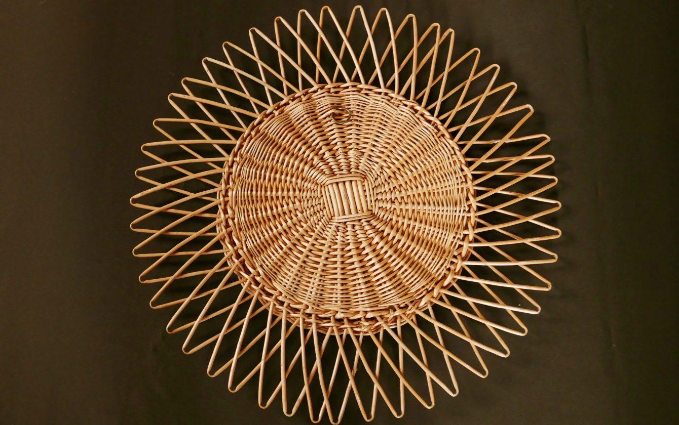 miroir soleil en osier r ve de brocante. Black Bedroom Furniture Sets. Home Design Ideas