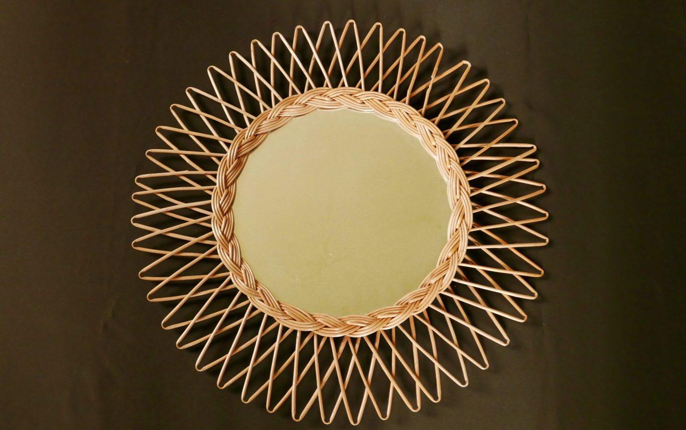 Miroir soleil en osier r ve de brocante for Miroir en osier