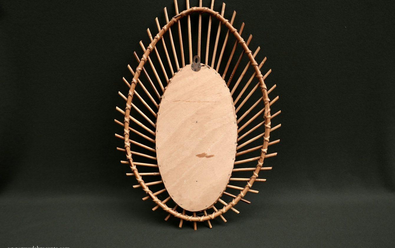 Miroir rotin vintage ann es 50 60 r ve de brocante for Miroir 50 60