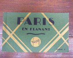 Carnet de 20 cartes postales anciennes début 20ème en parfait état « Paris en flanant » des Editions d'art Yvon