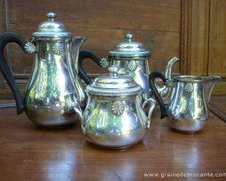 Service à thé - café metal argente