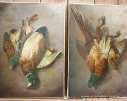 Nature morte d'oiseaux-E. Legras