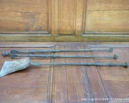 Pinces anciennes - Accessoire cheminee