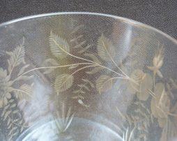 verre de table gravé