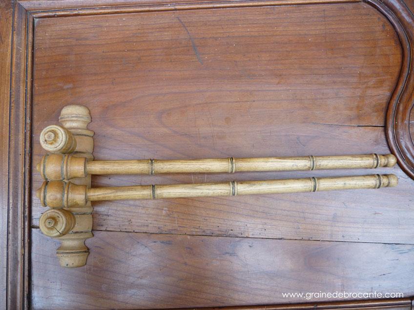 Porte Serviette En Pin Façon Bambou Ancien
