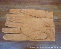 gant cuir homme