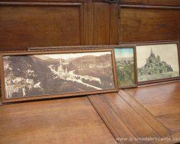 Cadres lourdes, mont saint michel, strasbourg