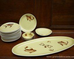 service à poisson porcelain