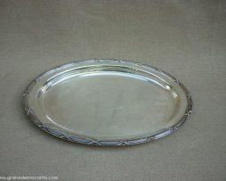 Plat métal argenté