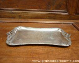 Petit plateau en métal argenté