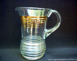 broc à eau vintage avec filets doré
