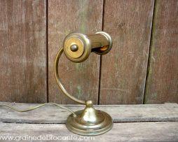 lampe bureau en cuivre ancienne