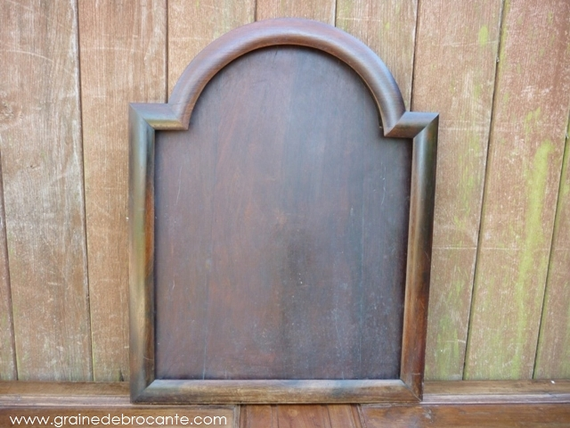 grand cadre en bois original et ancien r ve de brocante. Black Bedroom Furniture Sets. Home Design Ideas