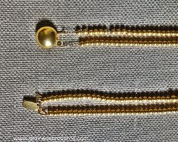 Collier boules plaqué or double rang