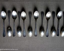 12 silver-plated coffee spoonsargenté