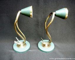 Paire d'appliques années 40 en métal peint