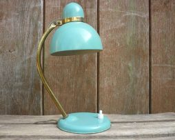 lampe de chevet vintage en métal bleue