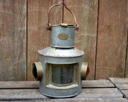 lanterne bateau fanal ancien