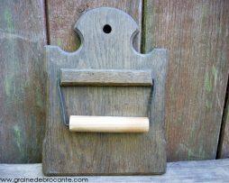 derouleur papierwc ancien en bois