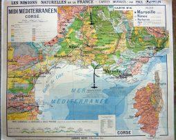 carte N°6 Midi Meditterranéen corse Kaeppelin