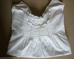 chemise de nuit ancienne brodée