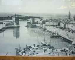 Vue ancienne du port de la rochelle