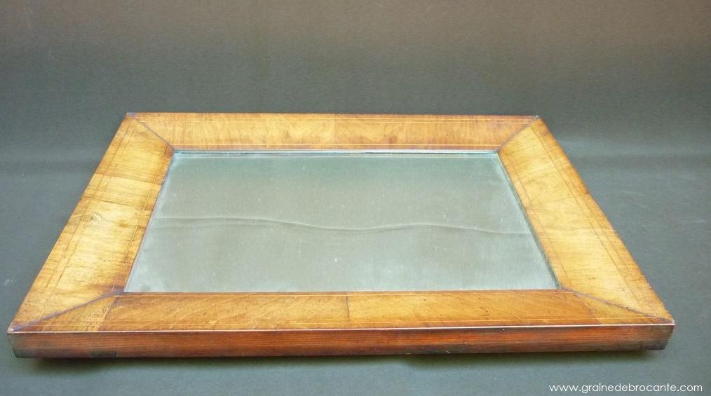 Miroir en loupe de noyer ancien for Miroir loupe