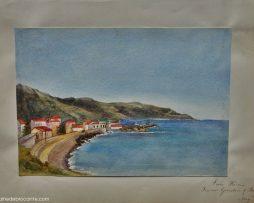 aquarelle anglaise 19 ème San Remo
