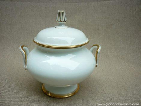 service à café porcelaine et filet or ancien