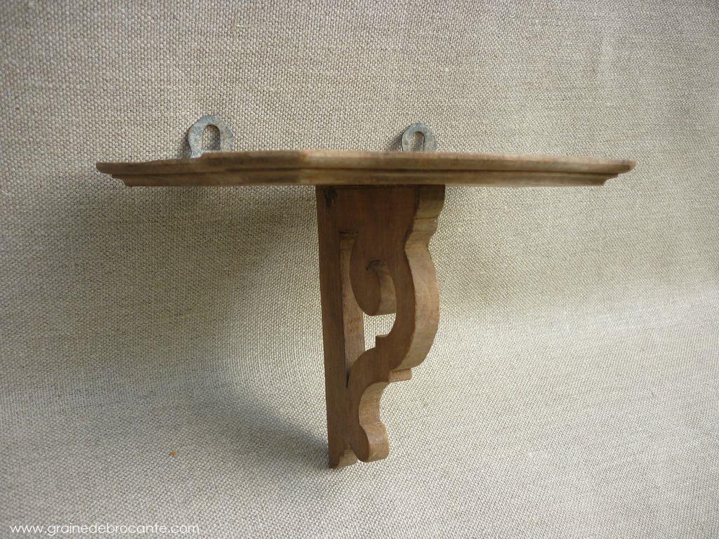 petite tag re en bois r ve de brocante. Black Bedroom Furniture Sets. Home Design Ideas
