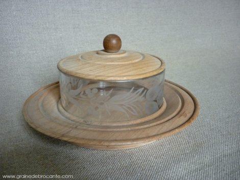 boit en bois et verre gravé