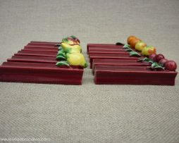 Porte couteaux céramique avec des fruits