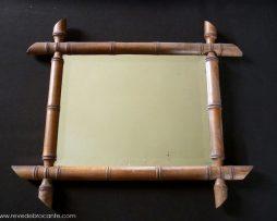 Miroir ancien bambou