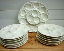 Assiettes à huitres avec son plat - Longchamp