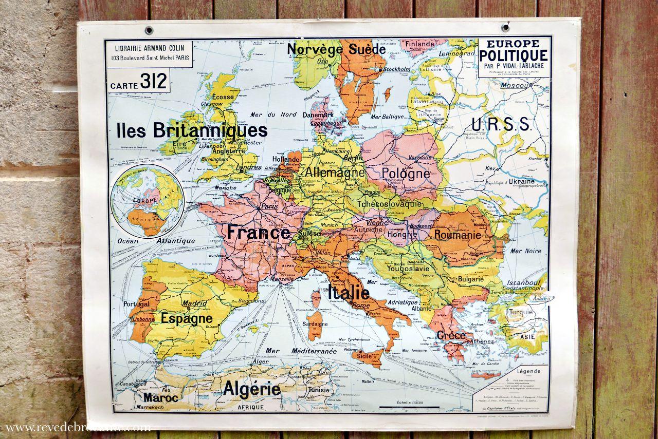 carte vidal lablache le bon coin Carte ancienne scolaire Vidal Lablache N°312 L'EUROPE   Rêve de