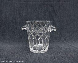 seau à glace en cristal taillé ancien