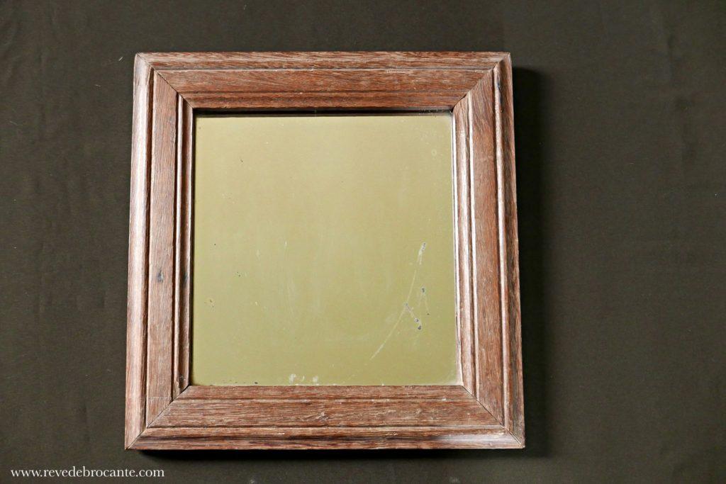 miroir ancien en ch ne r ve de brocante. Black Bedroom Furniture Sets. Home Design Ideas